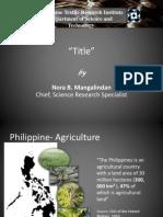 Philippine Textile Presentation