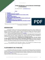 Relaciones Sociologia Derecho Criminologia Criminalistica