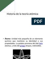 Historia de la Teoría Atómica
