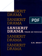 Sanskrit Drama Problems and Perspectives - G.B. Bhat
