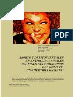 Aborto y Delitos Sexuales en Antioquia. Piedad Del Valle