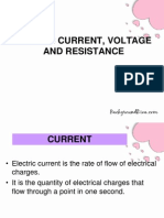 Current,Voltage&Resistance