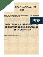 Lineamientos Proyectos y Tesis de Grado AEIRNNR - Copy