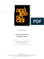 Cultural Dimensions, Lusophone Spaces