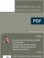 HISTORIA DE LAS COMUNICACIONES