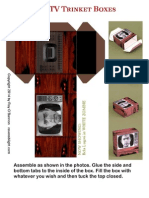 Haunted Television Trinket Boxes