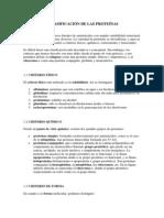 13 Clasificación de las proteinas