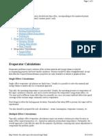 Evaporator Calculation