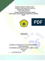 Proposal Kkm 76 Untirta 2013