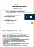 Arranjo Fisico - Layout