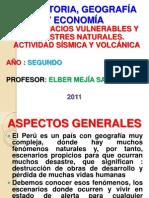 Espacios Vulnerables y Desastres Naturales