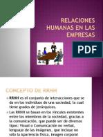 Relaciones Humanas en Las Empresas
