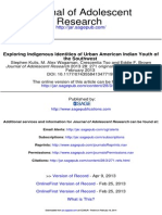 Exploring Indigenous Identities of Urban American Indian Youth of the Southwest - US