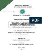 Resumen de La Tesis-gabino