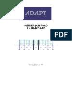 Post Tension Design of Slab