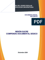 MISIÓN SUCRE COMPENDIO DOCUMENTAL