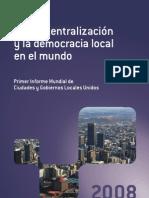 Reporte Gold 2008. Gobiernos Locales
