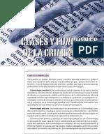 Clases y funciones de la Criminología