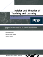 Principles and Theories of Teaching and Learning