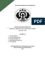 Analisis Anggaran Pemerintah - APBD Sultra