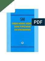 Standar Nasional Indonesia Bidang Kepustakaan Dan Kepustakawanan