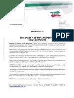 MEDIA RELEASE BMW Drives in to Salta Properties Nexus Corporate