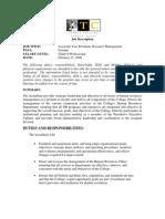 3.2.7-AVP Resource Management Job Description
