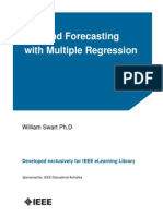 Demand Forecasting With Multiple Regression Course Notes