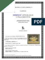 49346067 Calimaco Himnos Epigramas Y Fragmentos Ed Bilingue