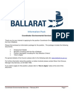 Information Pack - Coordinator Environmental Services - 060214