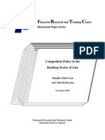 Competition Policy in the Banking Sector of Asia1