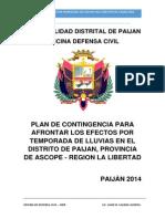 Plan de Contingencias 2014 - Paijan