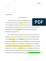 final reflection essay revisions