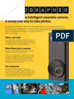 Autographer Product Sheet