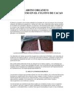Abonos Organicos en Cacao