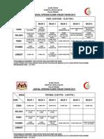 Jadual Waktu Operasi Unit & Klinik Hkb 2013