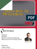 7 Ways of Reducing TPM Cost PDF