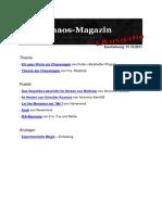 Chaos Magazin 1.Ausgabe
