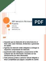 IRF Impuesto Retención de la Fuente