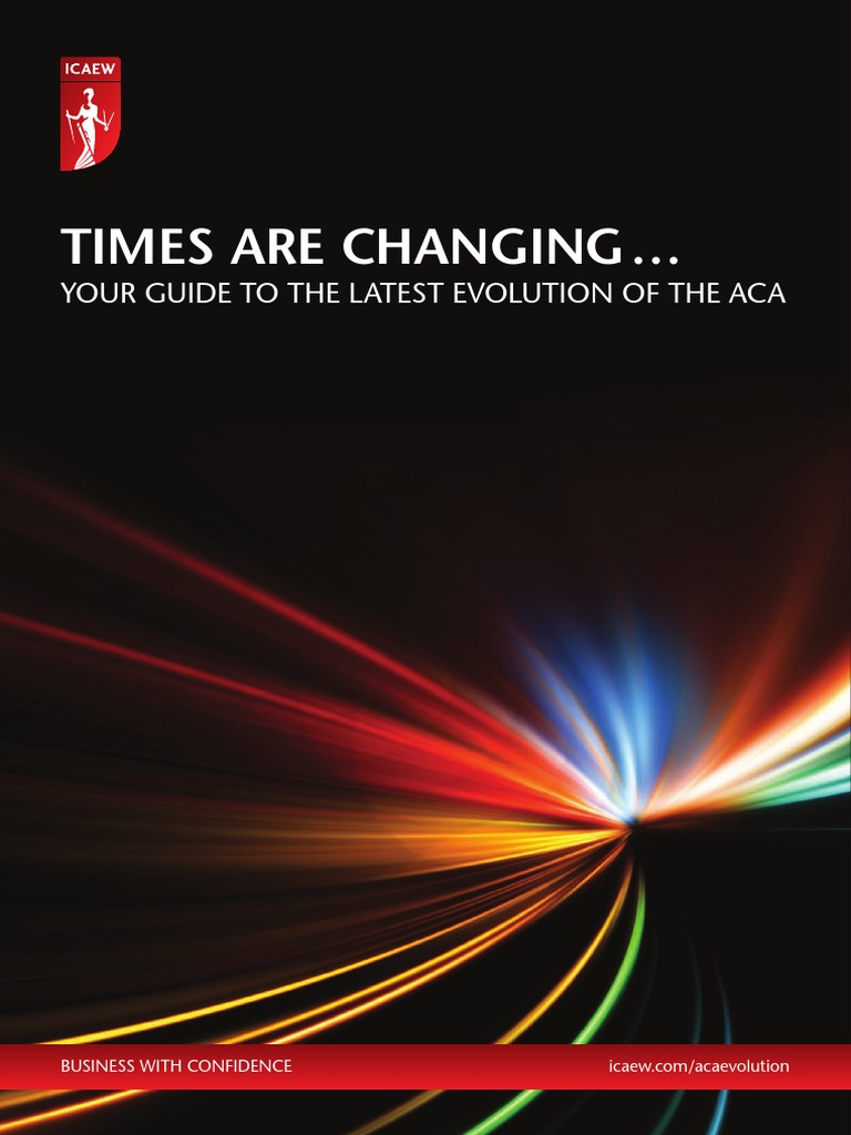 Guide to the Latest Evolution of the Aca | Accounting | Test (Assessment)