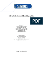 Saliva Collection and Handling Advice Booklet-Large Format, 4-7-09