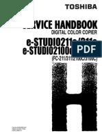 Toshiba eStudio 211c Service Handbook