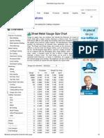 Sheet Metal Gauge Size Chart-Aluminum