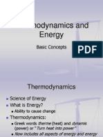 Week 1 Thermodynamics and Energy