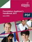 Foundation Applicants Handbook 2011