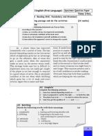 Specimen Question Paper Std. X L1