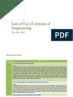 Top 25 Articles of Engineering
