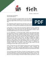 Letter Ict-fidh Eu