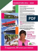 Projet de Mandature 2014 - 2020