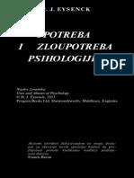 Eysenck - Upotreba i Zloupotreba Psihologije